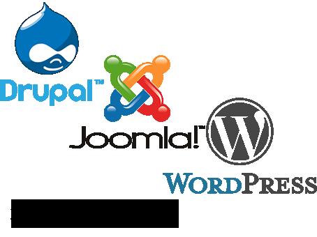 Drupal, Joomla, WordPress javítás.