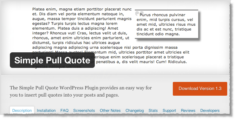 Top-10-WordPress-Plugins-Simple-Pull-Quote